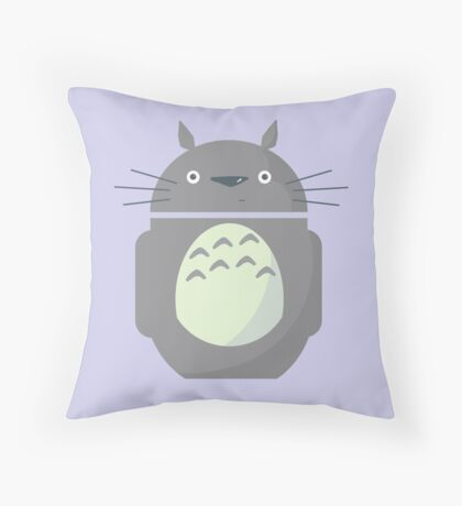 My Neighbor Totoroid Throw Pillow