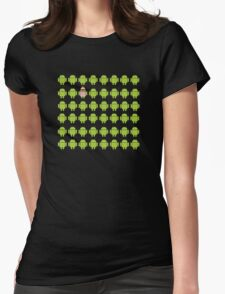 Where's Waldroid advanced Womens Fitted T-Shirt