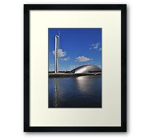glasgow science centre in blue Framed Print