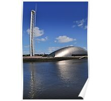 glasgow science centre in blue Poster