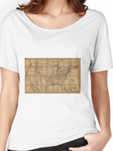 Map of the Unitd States of America (1819) Women's Relaxed Fit T-Shirt