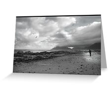 Walking on the beach - Kommetjie, near Cape Point Greeting Card