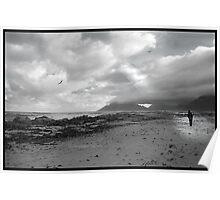 Walking on the beach - Kommetjie, near Cape Point Poster