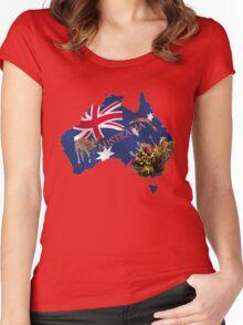 Australiana Tshirt Women's Fitted Scoop T-Shirt