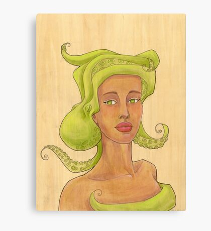 Octopus Mermaid 2 Canvas Print
