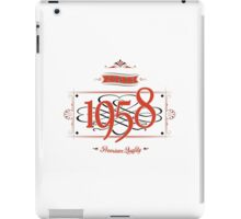 Since 1958 (Red&Black) iPad Case/Skin