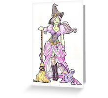 Steampunk Wicked Witch of the West Greeting Card