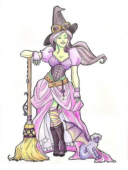 Steampunk Wicked Witch of the West by Karen  Hallion