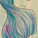 Tattooed Mermaid 10 by Karen  Hallion