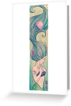 Tattooed Mermaid 10 by Karen  Hallion