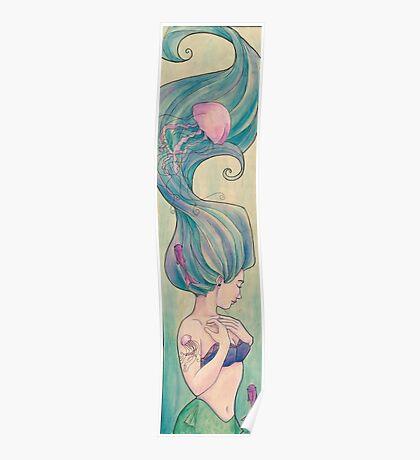 Tattooed Mermaid 10 Poster