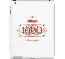 Since 1960 (Red&Black) iPad Case/Skin