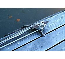 Cleat on Dock Photographic Print
