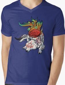 Okami - Amaterasu Rests Mens V-Neck T-Shirt