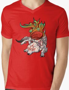 Okami - Amaterasu Rests Mens V-Neck T-Shirt