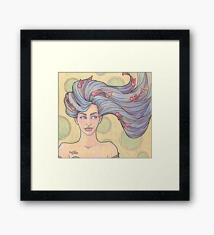 Tattooed Mermaid 7 Framed Print