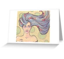 Tattooed Mermaid 7 Greeting Card