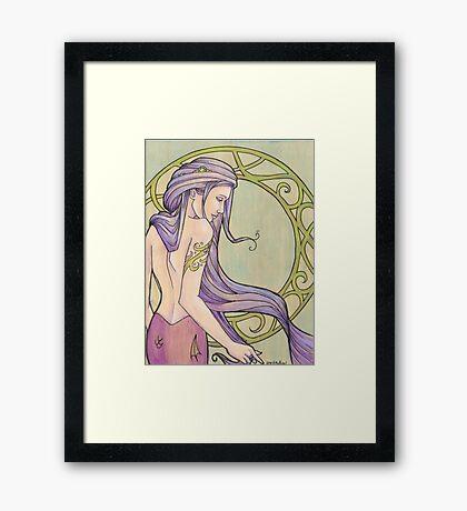 Tattooed Mermaid 3 Framed Print