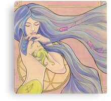 Tattooed Mermaid 1 Canvas Print