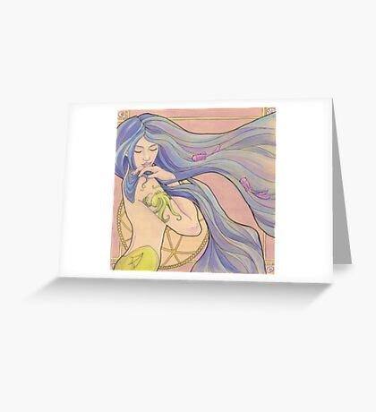 Tattooed Mermaid 1 Greeting Card