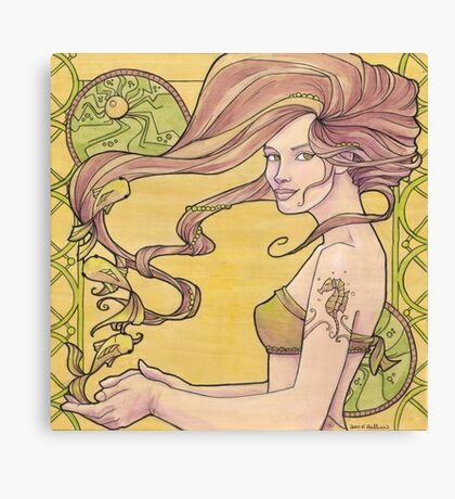 Tattooed Mermaid 2 Canvas Print