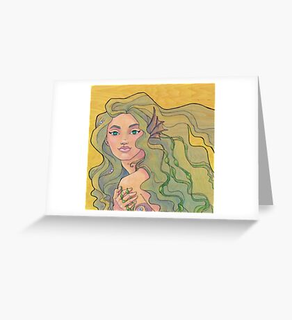 Tattooed Mermaid 12 Greeting Card