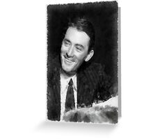 Gregory Peck by John Springfield Greeting Card