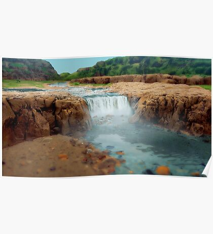 Rockpool Waterfall Poster
