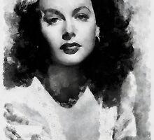 Hedy Lamarr by John Springfield by esotericaart