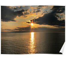 Sun Set on Lake Superior Poster