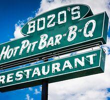 Bozo's Hot Pit Bar-B-Q Sign by JonWoodhams