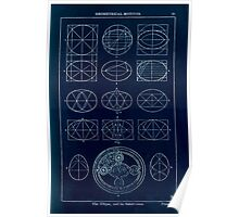 A Handbook Of Ornament With Three Hundred Plates Franz Sales Meyer 1896 0047 Geometrical Motivs Ellipse Subdivision Inverted Poster