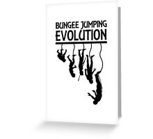 BUNGEE JUMPING EVOLUTION Greeting Card