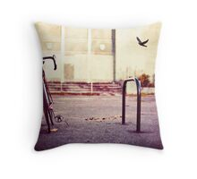 Abandoned bike Throw Pillow