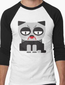 cheerless grumpy looking cat Men's Baseball ¾ T-Shirt