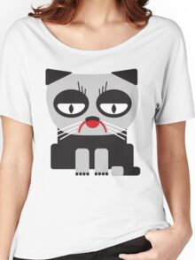 cheerless grumpy looking cat Women's Relaxed Fit T-Shirt