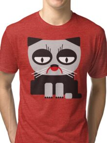 cheerless grumpy looking cat Tri-blend T-Shirt