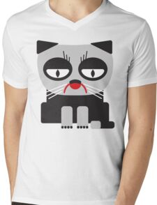 cheerless grumpy looking cat Mens V-Neck T-Shirt