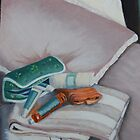 Still Life on Bed by Geraldine M Leahy