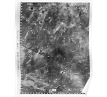 Apollo 16 - Moon Landing Site Map - a16.lsp264 Poster
