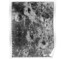 Apollo 16 - Moon Landing Site Map - a16.lsp266 Poster
