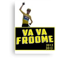 Chris Froome - Va Vaa Froome (Tour De France 2015) Canvas Print