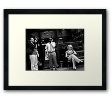 Having a Smoke at Lunch Time Framed Print