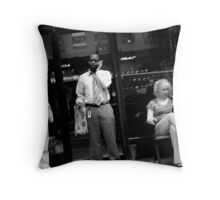 Having a Smoke at Lunch Time Throw Pillow