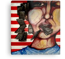 america is fallin like dominoes Metal Print