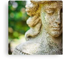 Memphis Elmwood Cemetery - Girl With Cross Square Canvas Print