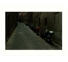 Siena Vespas Art Print