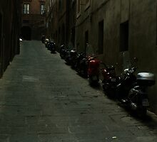 Siena Vespas by Sam Mortimer