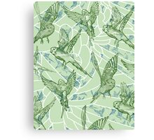 Budgie Pattern Canvas Print