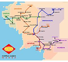 Middle-Earth metro map Photographic Print